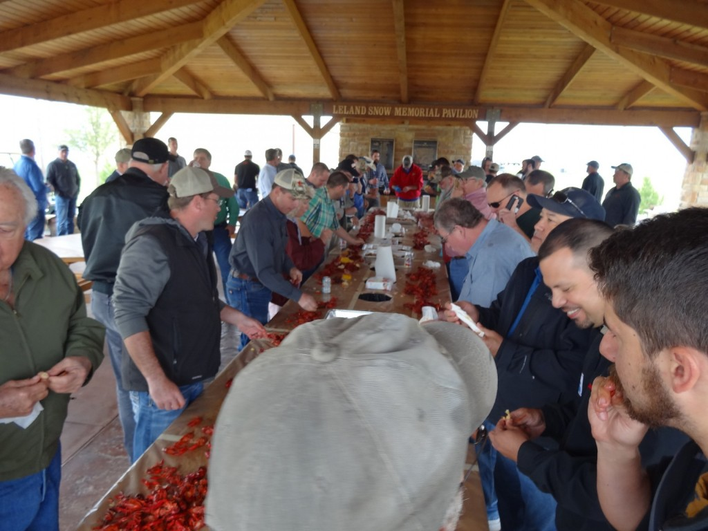 The crawfish boil luncheon was a hit with everyone at the Texas Fly-In 2016