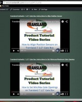A screenshot of the videos available on the Transland website.