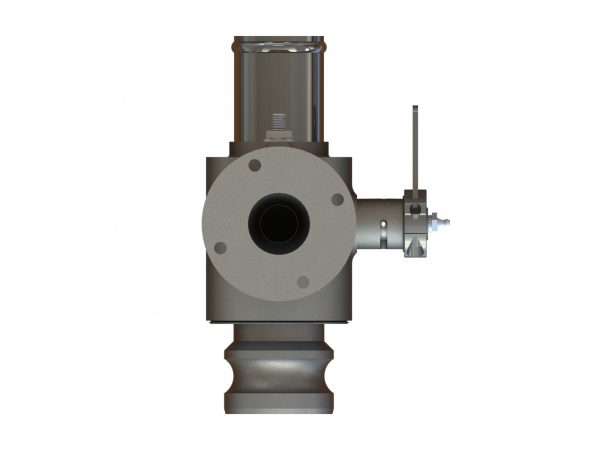 """58383 Stainless Steel 2"""" Q.D. Spray Valve, Hose Barb Outlet"""