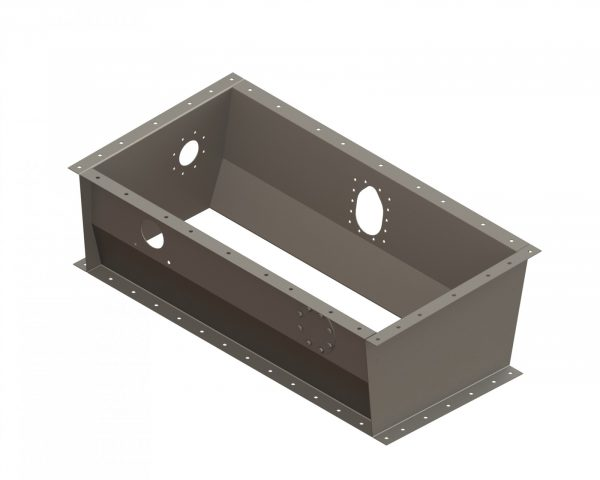 "22778 Adapter Box for Ag Cat 25"" Gate Box with hole for Valve"