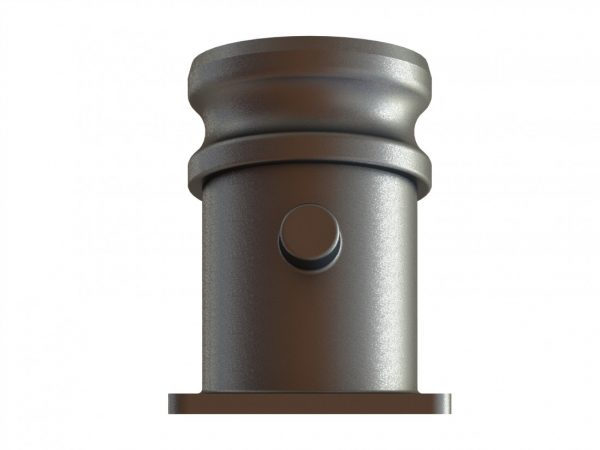 """50271 Stainless Steel 2.5"""" Angled Male Q.D. Flanged Fitting"""